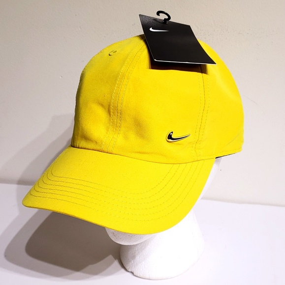 077bab07cc04c0 Nike Accessories | Youth Kids Metal Swoosh Strapback Hat Yellow ...